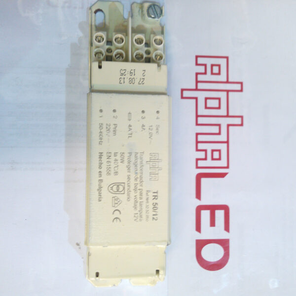 TRANSFORMADOR DE 50W 12V ALPHA - Luz y color
